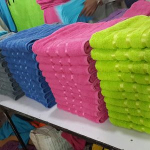 TOWELS WITH VISCOSE FANCY